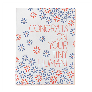 congrats on your tiny human greeting card