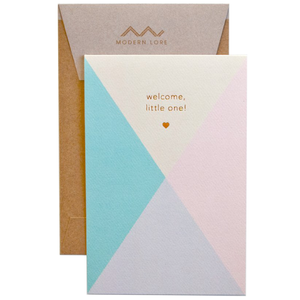 newborn baby greeting card