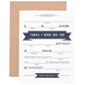 photo relating to Birthday Mad Libs Printable identified as Outrageous Libs Birthday