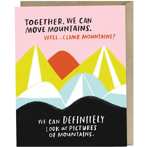Together we can move mountains funny greeting card