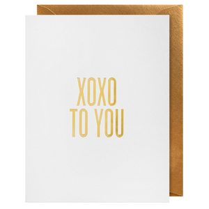 xoxo to you greeting card
