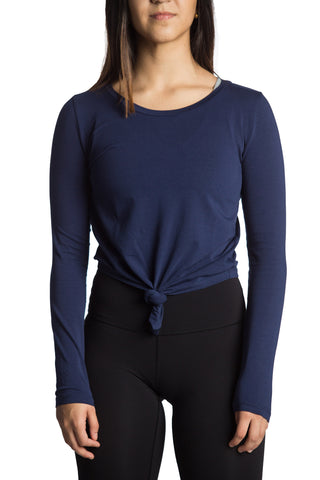 Crop Knot Long Sleeve (Azul)