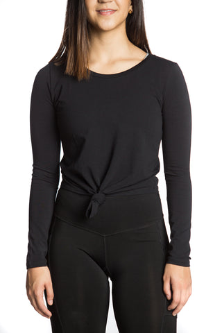 Crop Knot Long Sleeve (Negra)