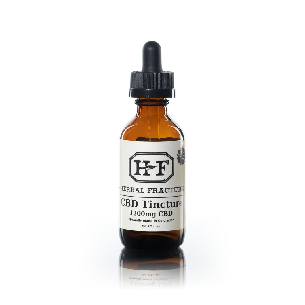 Herbal Fracture ~ 1,200 mg CBD Tincture ~ 60 ml bottle