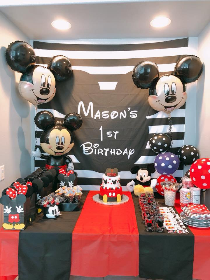 Mickey Mouse Birthday Table Banner