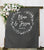 Chalkboard Wedding Ceremony Backdrop - Blushing Drops