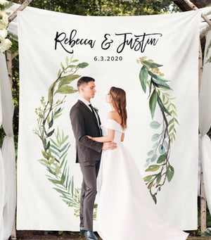Greenery Wedding Photo Backdrop | Outdoor Wedding Backdrops - Blushing Drops