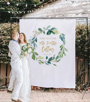 backyard couples shower ideas, wedding shower decoration backdrop