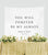 Calligraphy Backdrop, Sweetheart Table Decorations | You Will Forever Be My Always - Blushing Drops