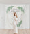 Greenery Bridal Shower Photo Backdrop | Custom Fabric Backdrop - Blushing Drops