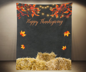 Happy Thanksgiving Backdrop, Friendsgiving Decoration Ideas - Blushing Drops