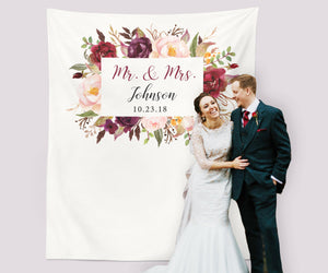 Marsala Wedding Table Decor Wedding Backdrops Ideas - Blushing Drops