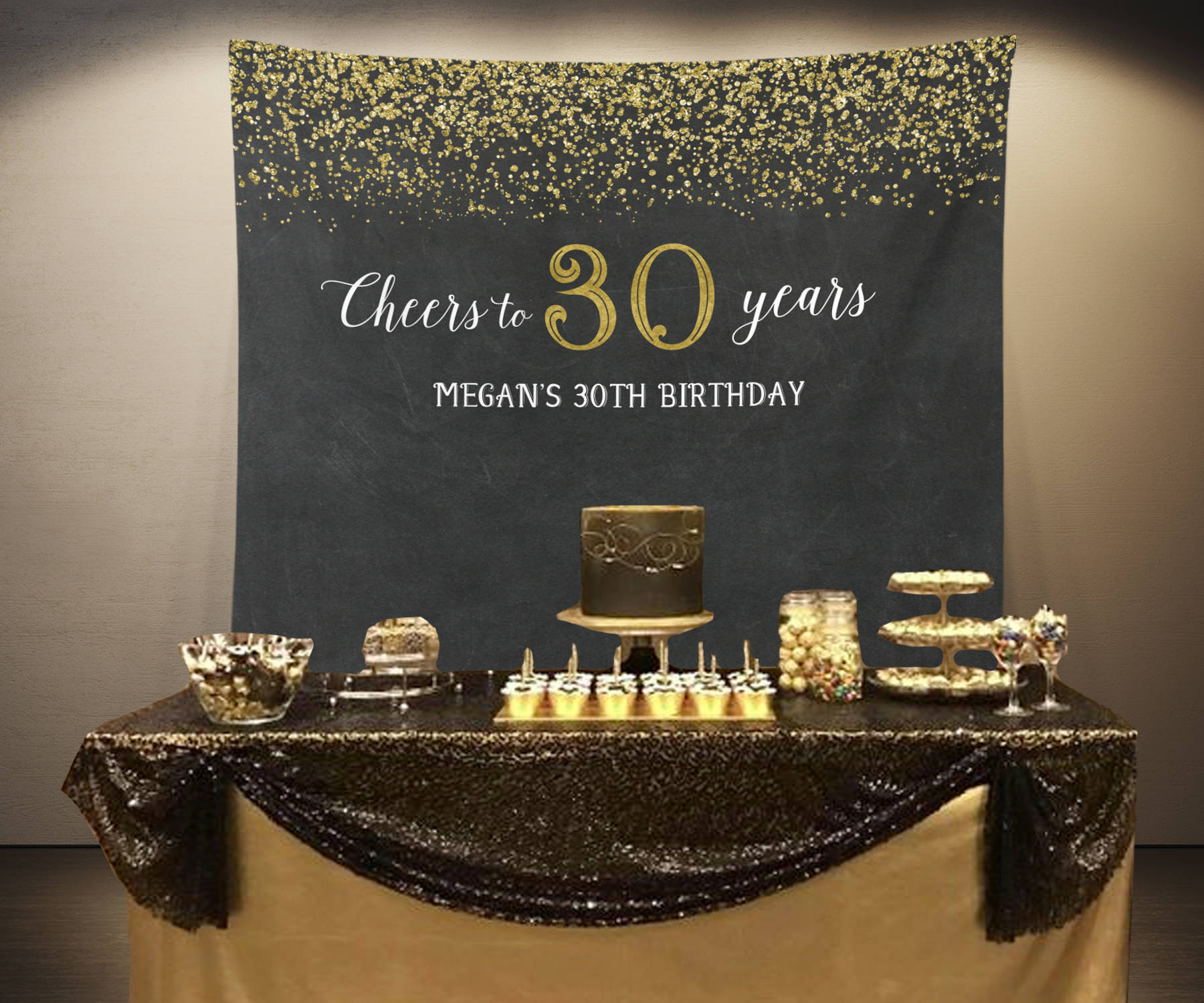 Cheers To 30 Years Backdrop