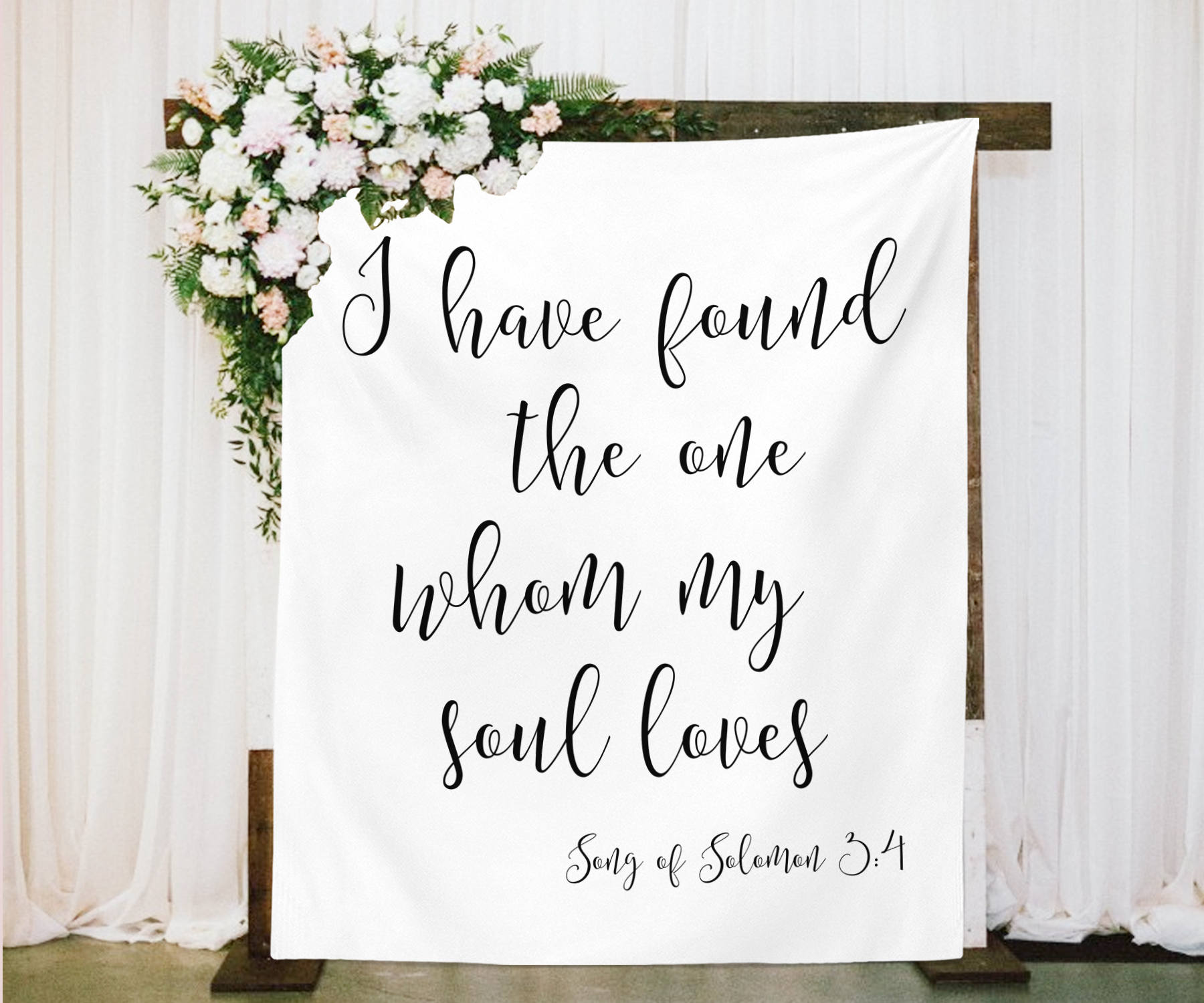Engagement Love Wedding Romance I found the one my heart loves Valentine/'s Day Anniversary Vinyl Decal Song of Solomon 3:4