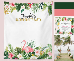 Tropical Theme Bachelorette Party Backdrop Decoration Ideas