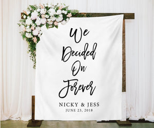 We Decided On Forever Rustic Wedding Decor  Rustic Wedding Ideas - Blushing Drops