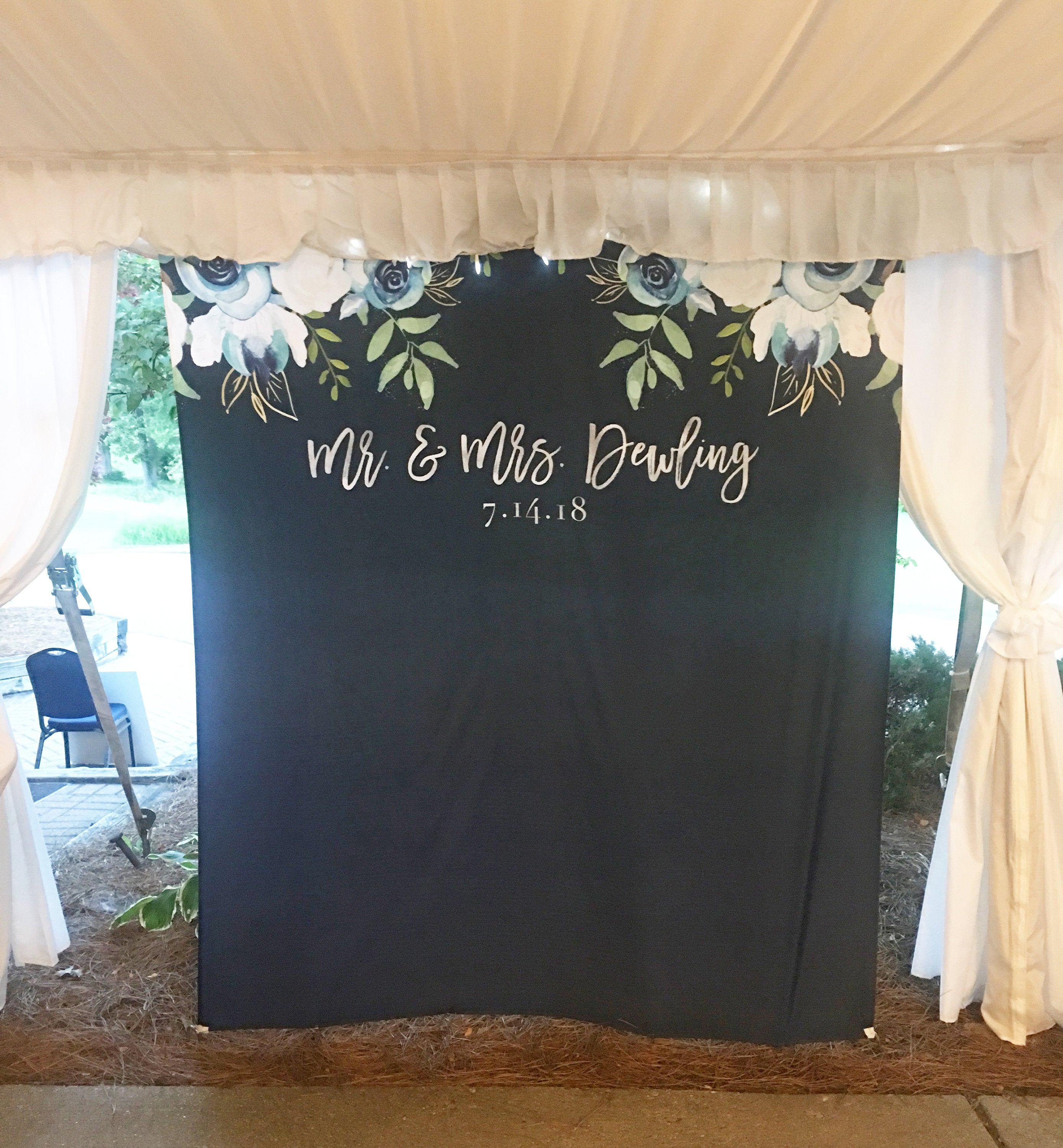 Navy Blue Wedding Photo Backdrop For Sale
