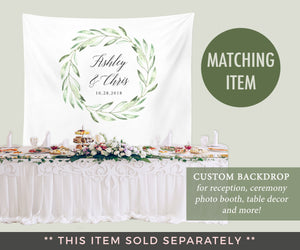 Rustic Wedding Guest Book Canvas | Olive Wedding Guestbook Alternative - Blushing Drops
