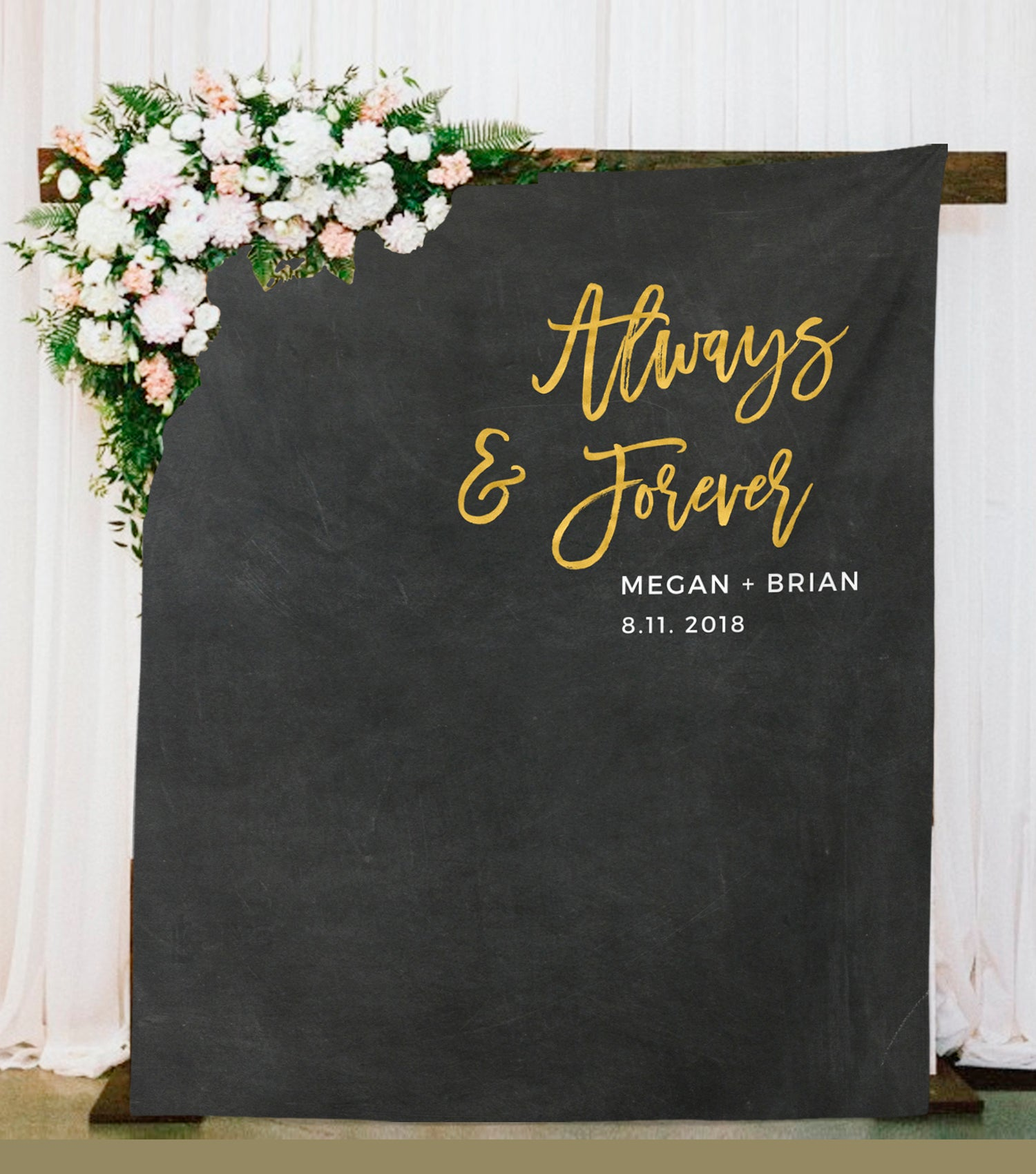 Always And Forever Photo Booth Backdrop