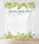 Lemon Theme Bridal Shower Photo Booth Backdrop - Blushing Drops