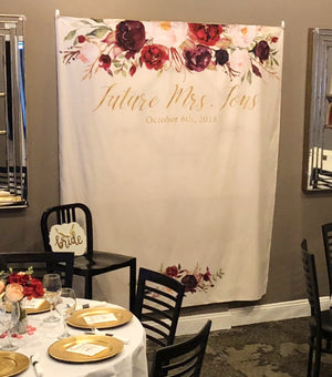 Floral Bridal Shower Decorations Backdrop | Bridal Shower Gifts - Blushing Drops