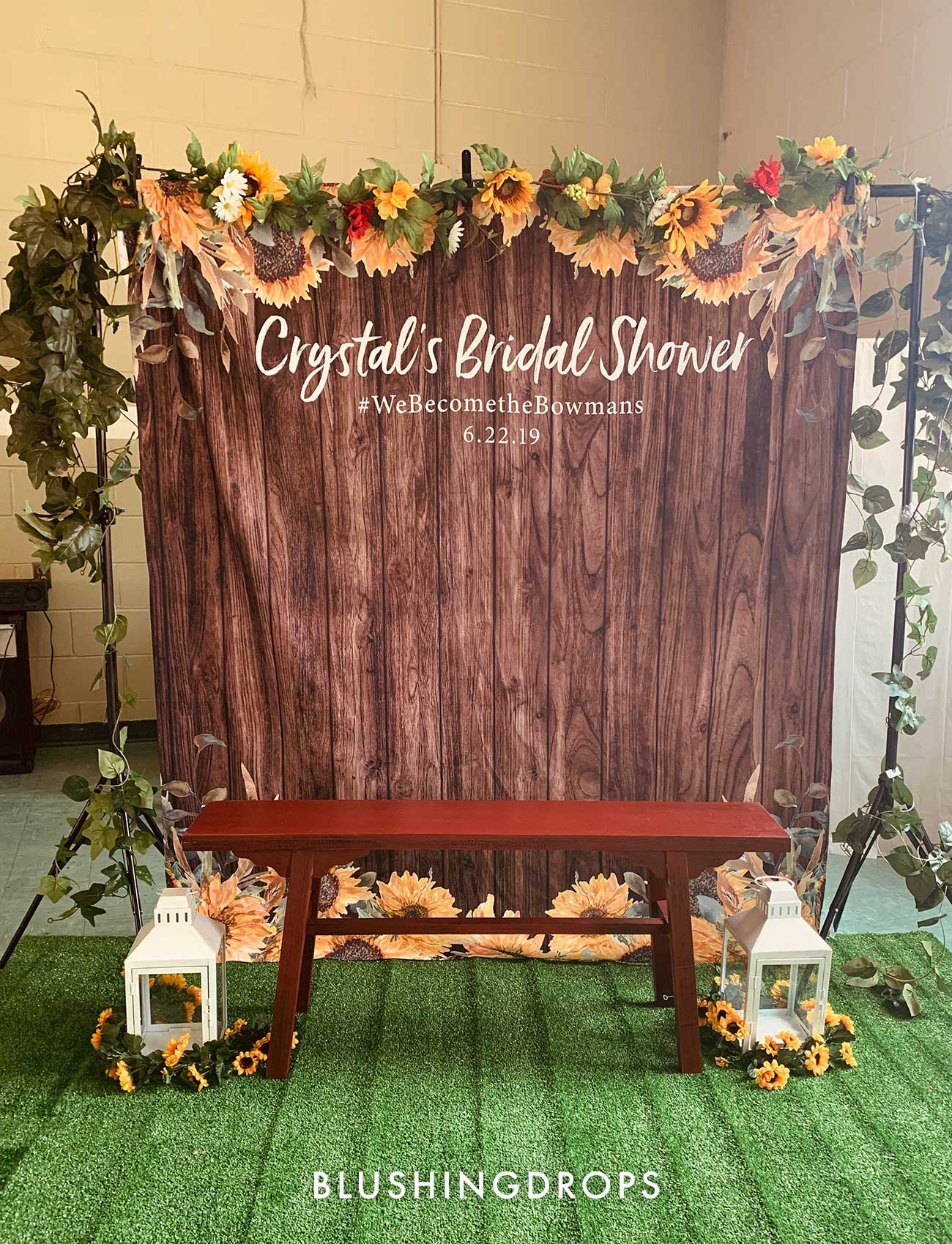 Sunflower Country Wedding Backdrop Decorations | Wood Backdrop – Blushing  Drops
