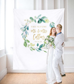 couples shower decoration backdrop, his and her shower ideas