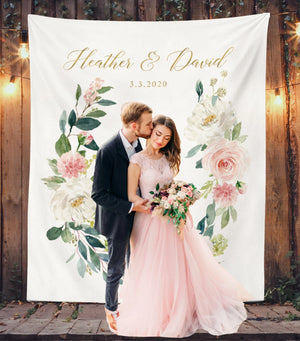Blush Wedding Decorations | Floral Wedding Backdrop Ideas - Blushing Drops