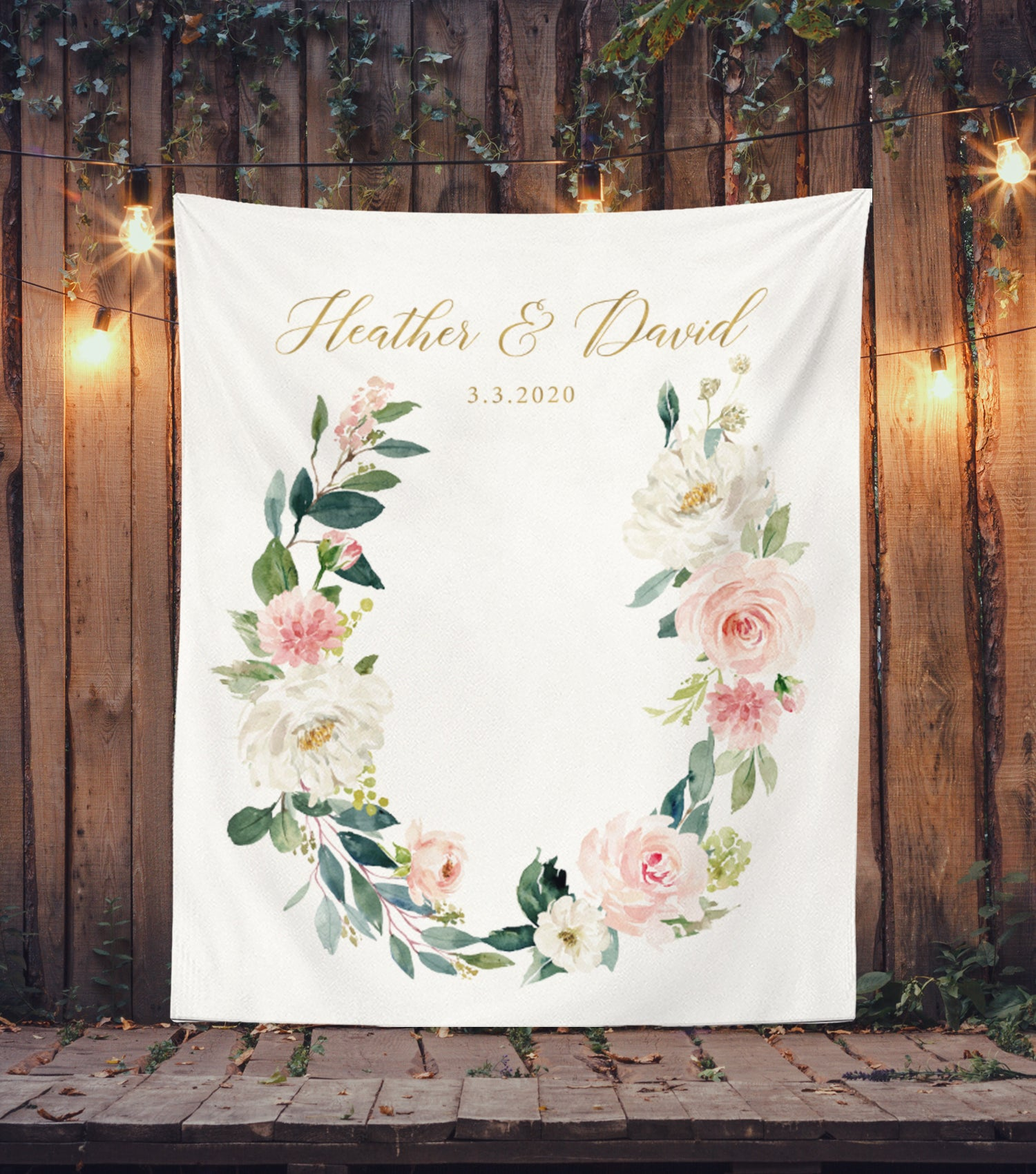 Blush Wedding Decorations, Floral Wedding Backdrop for Sale | Blushing Drops