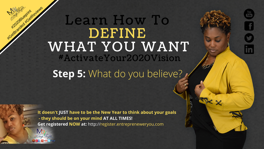 Day 5: What do you believe | How to Guarantee Your 2020 Goals
