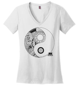 #YingYang (Stormes Styles) | District Made Ladies Perfect Weight V-Neck