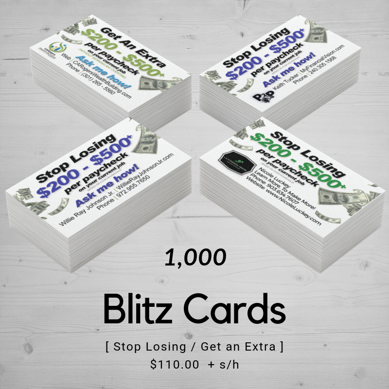 Blitz Card / CashBack Mall | Templated (1,000)