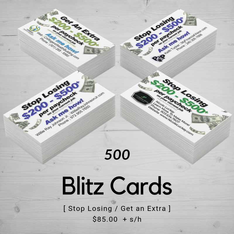 Blitz Card / CashBack Mall | Templated (500)