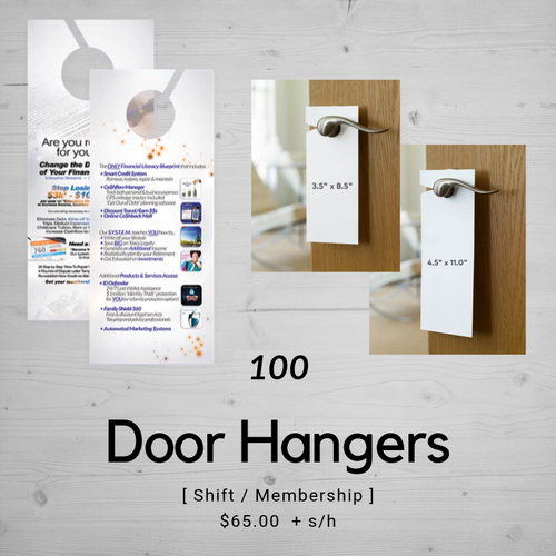 Door Hangers | Shift & Membership Benefits (100)