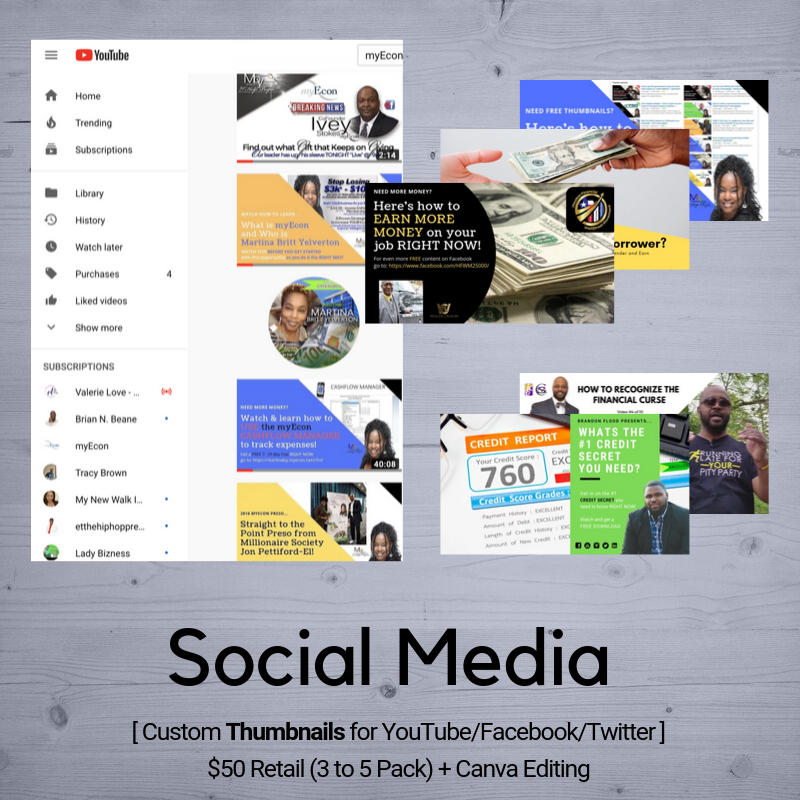 Social Media | Design (Thumbnails/Posts)