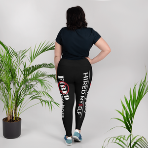 #FiredMyBoss | All-Over Print Queen Leggings (Black)