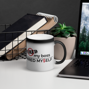#FiredMyBoss | Matte Black Magic Mug