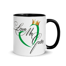 #LoveMeGodly (Heart) | Mug with Color Inside