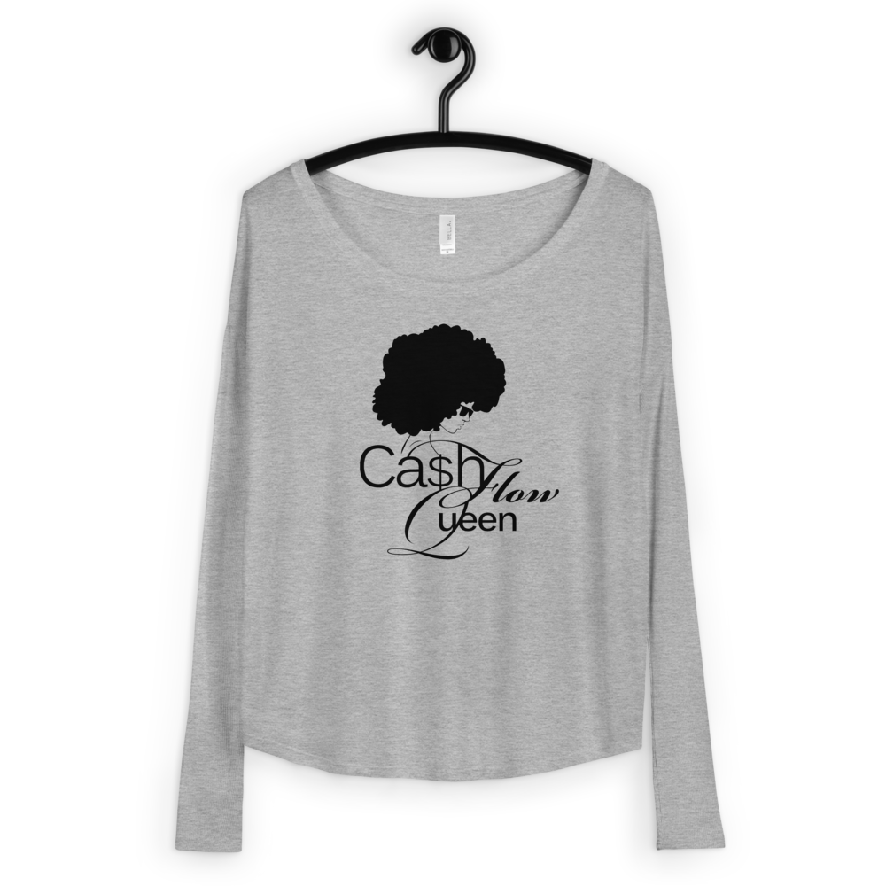 #CashflowQueen | Ladies' Long Sleeve Tee (Fitted Sleeve)