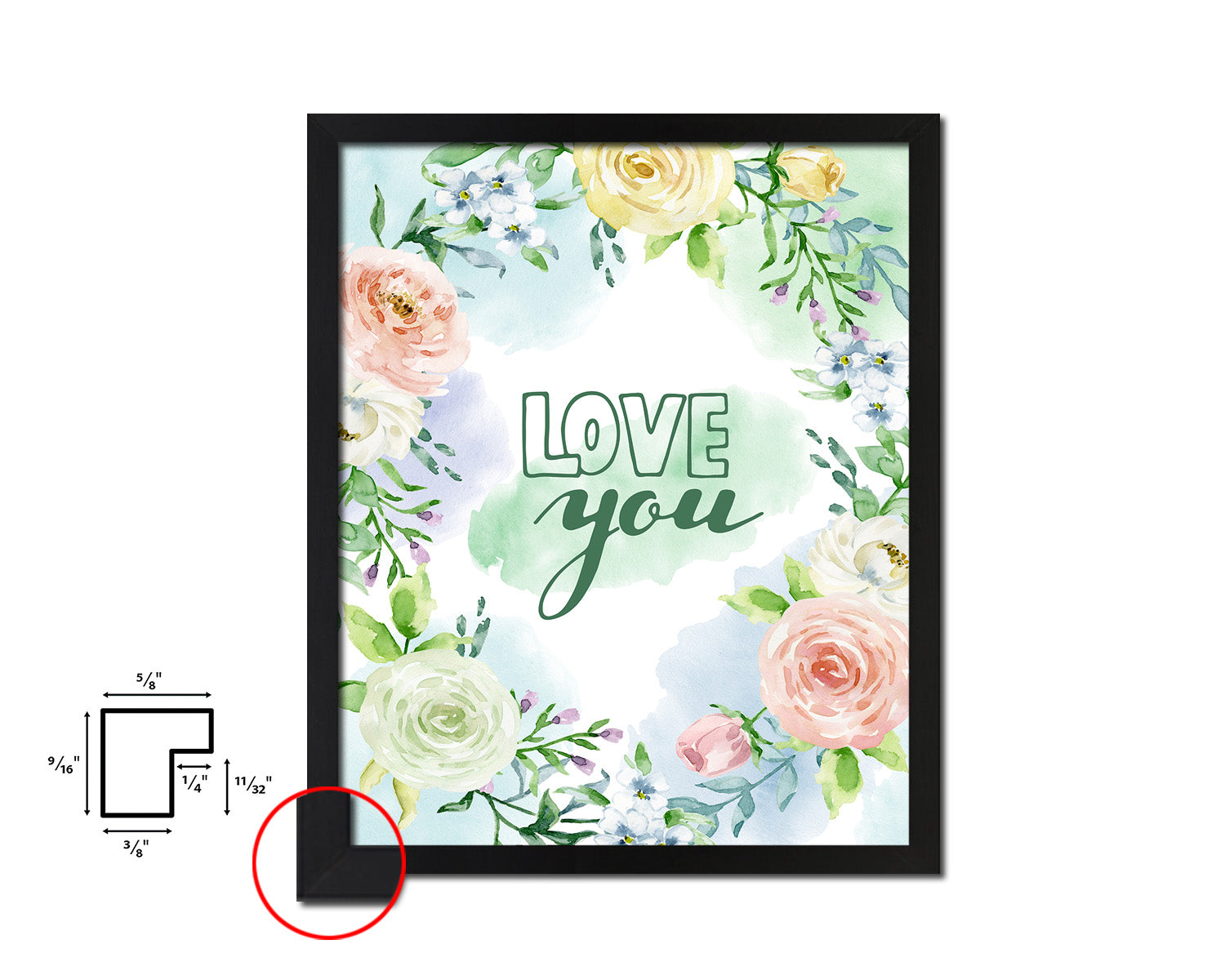 Love you Mother's Day Framed Print Home Decor Wall Art Gifts
