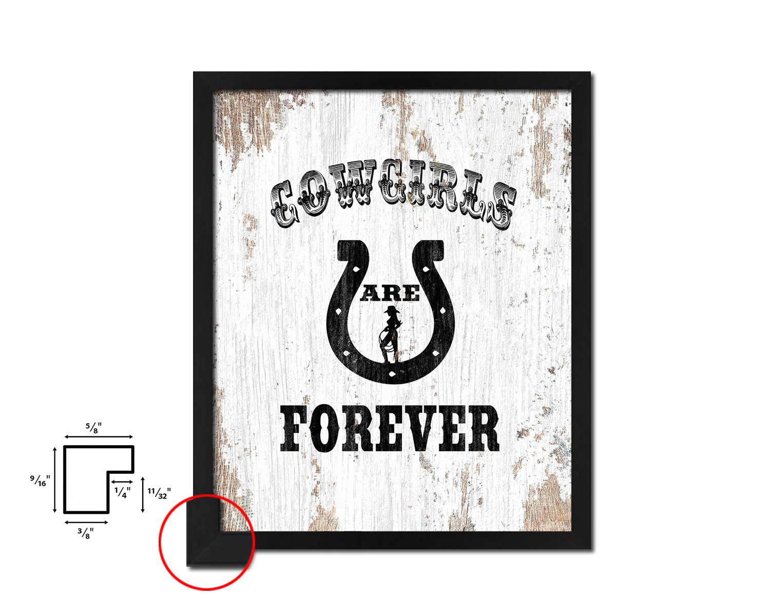 Cowgirls are forever Quote Framed Artwork Print Home Decor Wall Art Gifts