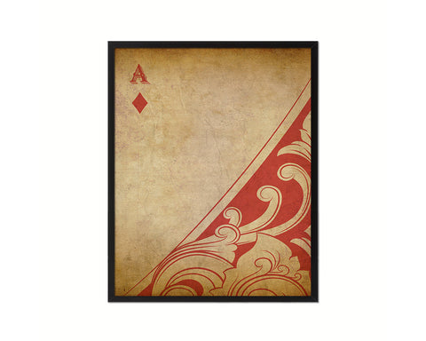 Ace of Diamond Cards Fine Art Paper Prints Wood Framed Wall Art Decor Gifts