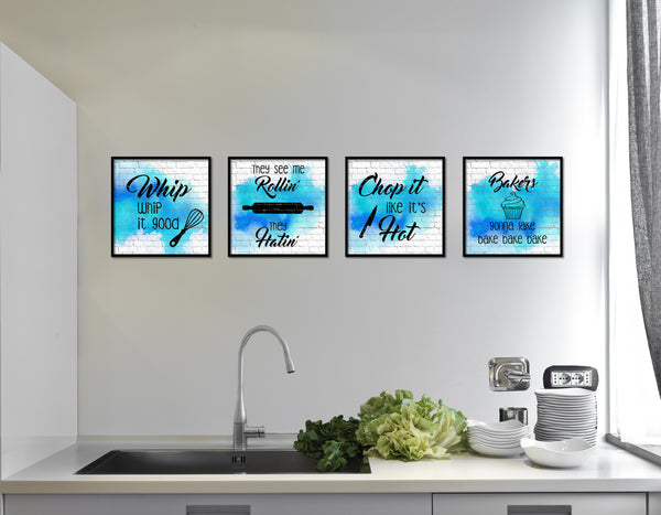They See Me Rolling' They Hatin' Printable Kitchen Quote Wall Art Home Decor Watercolor Digital Download 2421