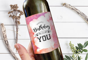 Happy Birthday To You Milestone Wine Liquor Bottle Label Gifts Holiday Present Personalized Party Gift 8002