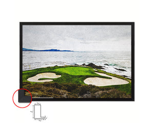 Pebble Beach Golf Course Artwork Painting Print Art Wood Framed Wall Decor Gifts