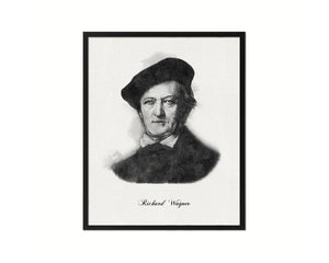 Richard Wagner Classical Music Framed Print Orchestra Teacher Gifts Home Wall Decor