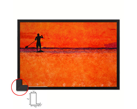 Beautiful Color Sunset Island Artwork Painting Print Art Frame Home Wall Decor Gifts