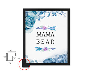 Mama Bear with arrow Mother's Day Framed Print Home Decor Wall Art Gifts