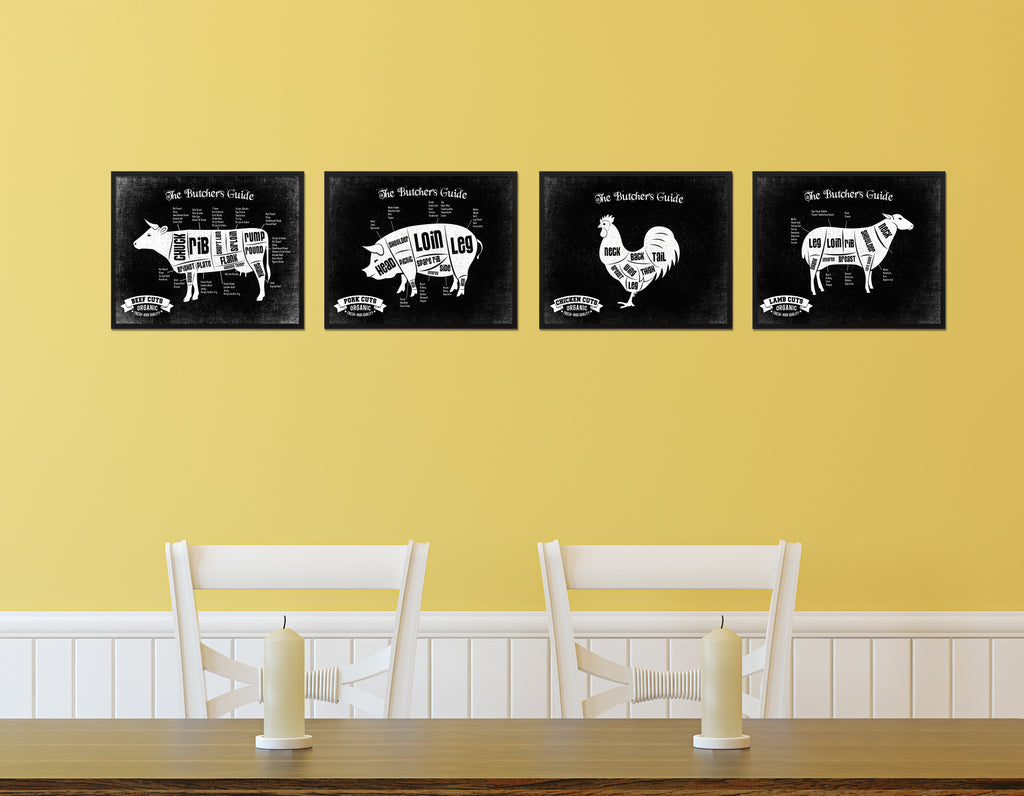 Goose Meat Cuts Butcher Chart Kitchen Black Printable Sign Wall Art ...