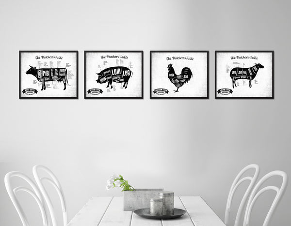 Chicken Meat Cuts Butcher Chart Kitchen White Printable Sign Wall Art Home Decor Digital Download 5206